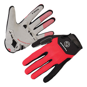 Endura Singletrack Plus - Guantes largos - rojo